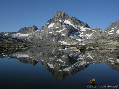 Banner Peak reflecting in 1000 Island Lake
